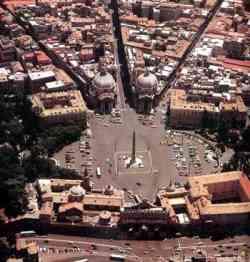 Roma - Piazza del Popolo con l'Obelisco Flaminio