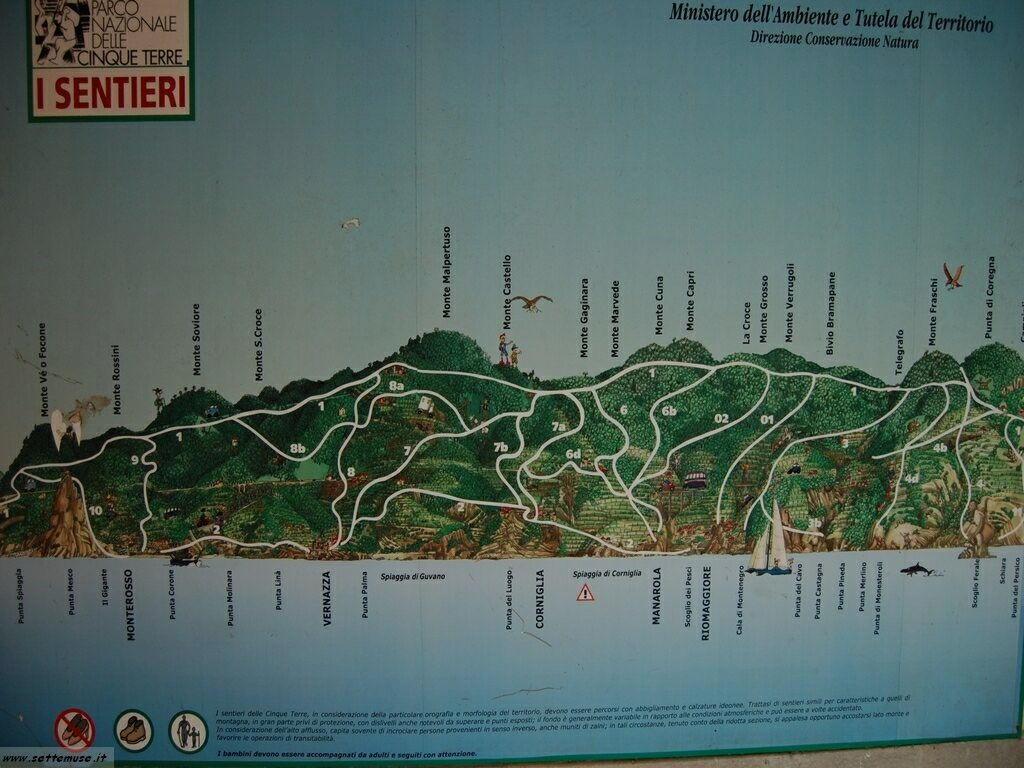 Mappa dei sentieri 211