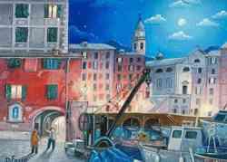 Porto di Camogli visto con gli occhi di un pittore