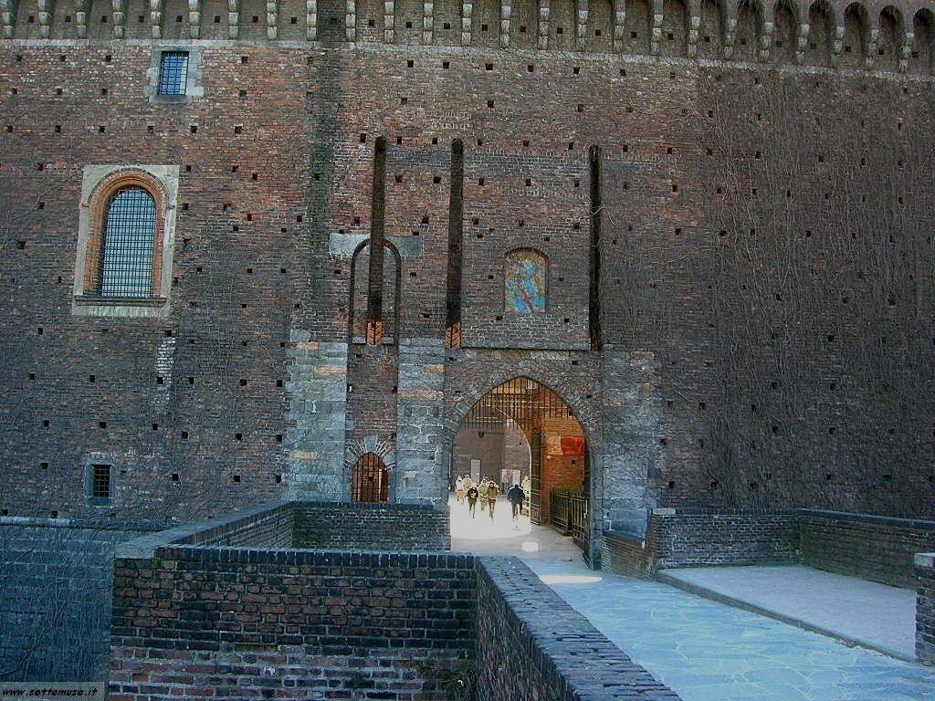 Milano citta castello sforzesco foto
