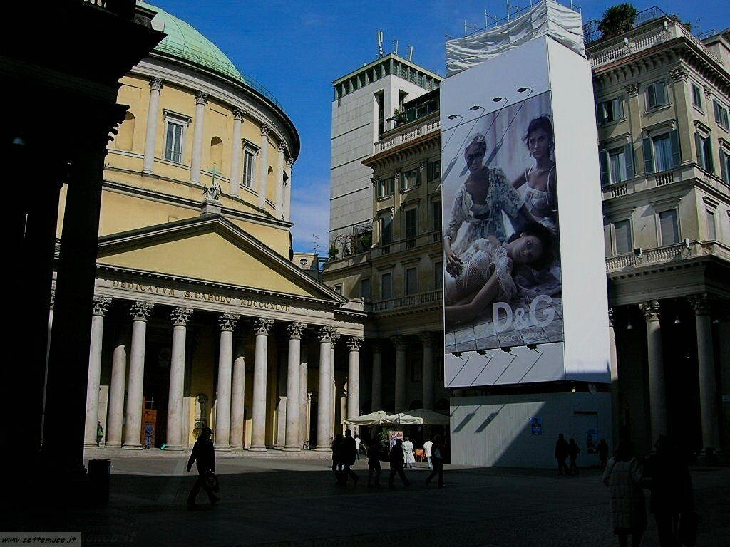 Milano citta corso vittorio emanuele foto