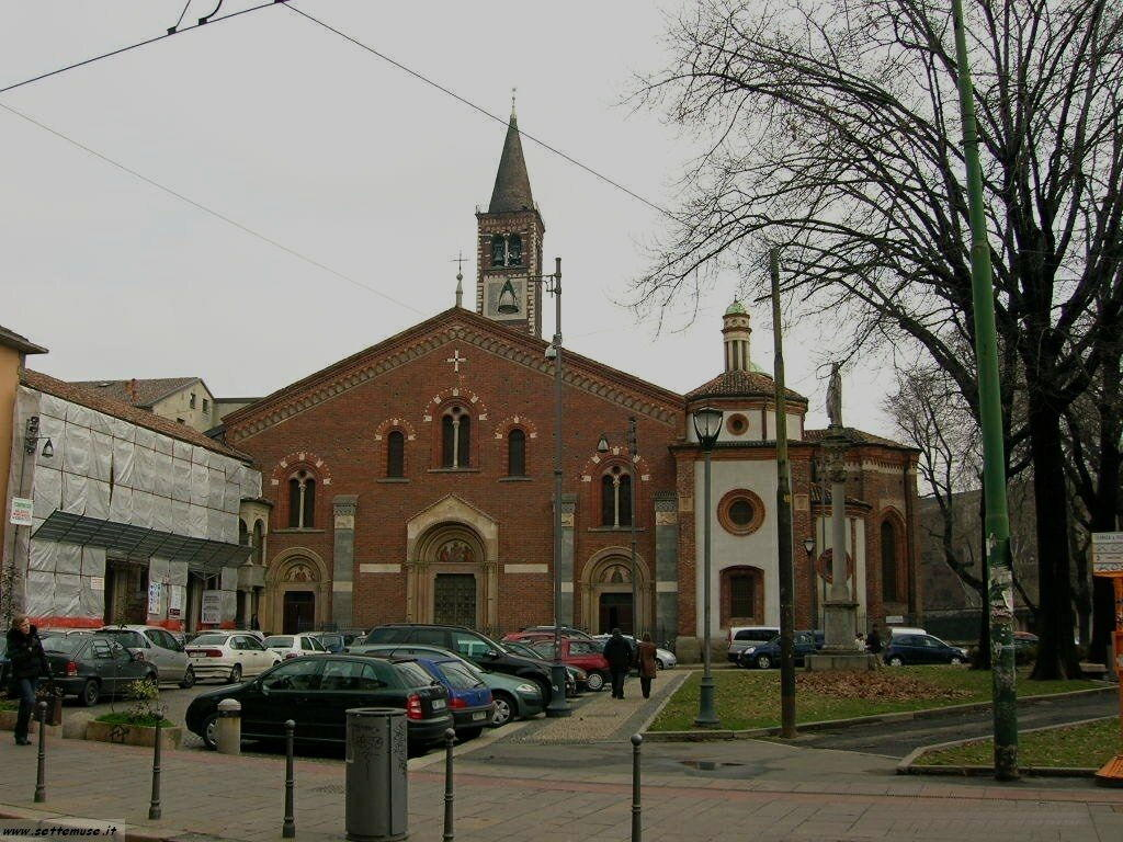 Milano citta chiesa di san cristoforo foto