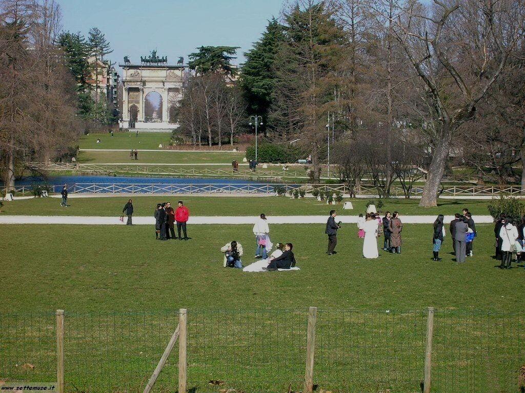Milano citta parco foto