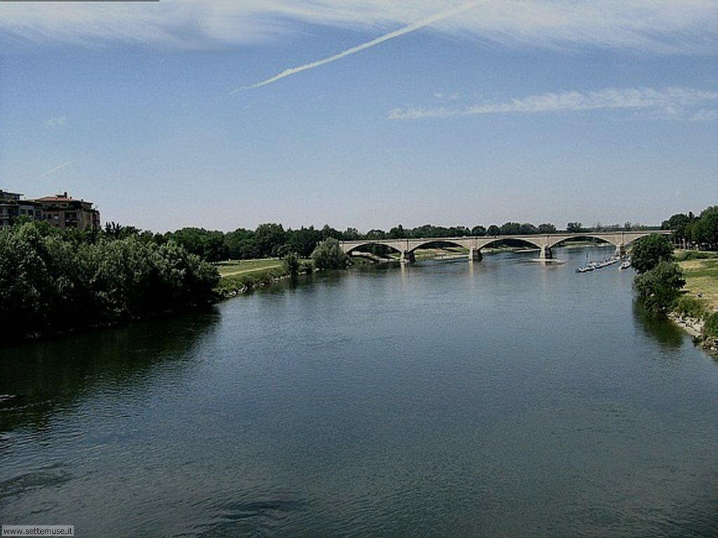 Pavia fiume Ticino ponte della Libertà
