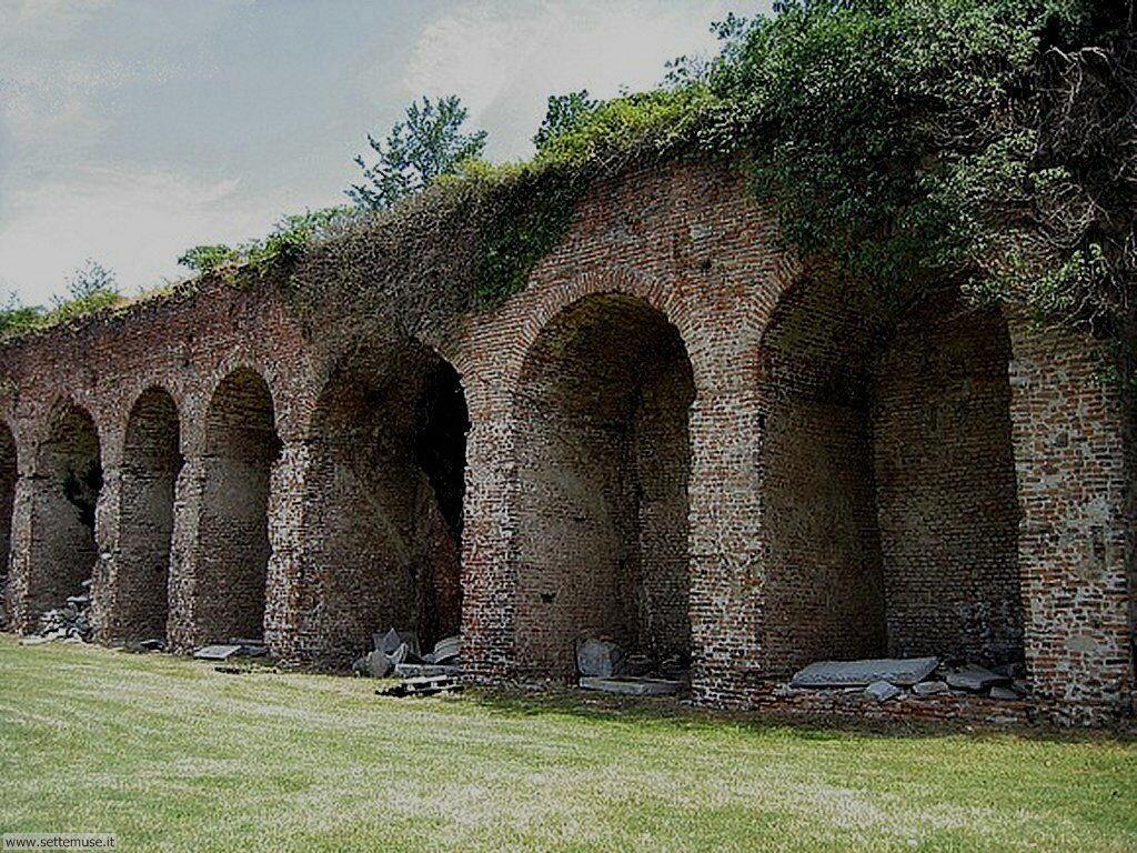 Pavia Castello Visconteo le rovine