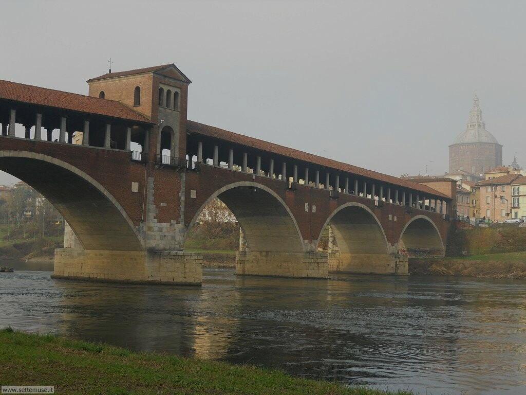 Pavia Ponte vecchio e Duomo