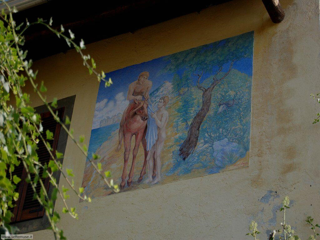 Arcumeggia paese dipinto foto