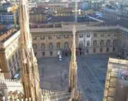 Palazzo reale di Milano dall'alto