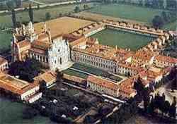 Pavia - La Certosa dal cielo