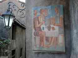 Arcumeggia - Foto di un affresco di  Migneco
