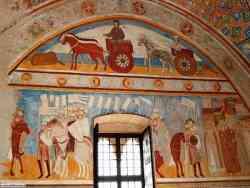 Rocca Borromea - Affreschi