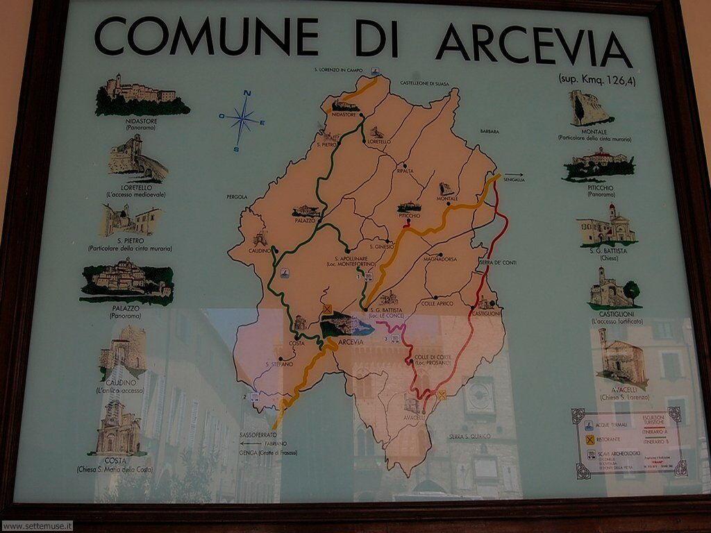 Cartina di Arcevia