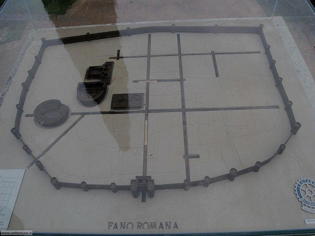 Cartina delle Mura di Fano