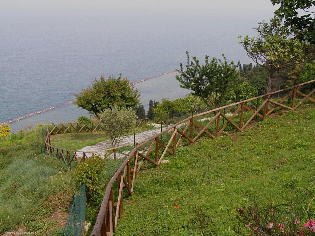 Vista del mare dall'alto a Fiorenzuola di Focara