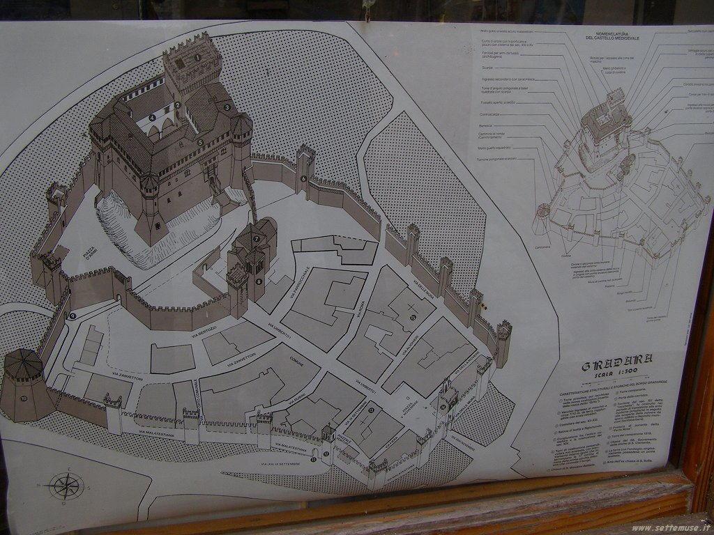 Mappa del Castello di Gradara