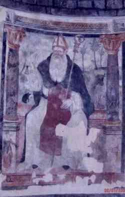 Moie - Affresco nell'Abbazia