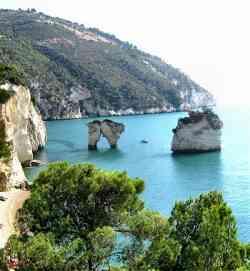 Gargano -Foto panoramica sul golfo di Mattinata