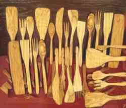Monte Sant'Angelo - Tradizionali posate in legno d'ulivo