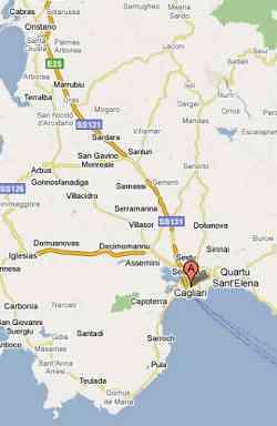 Mappa di Cagliari