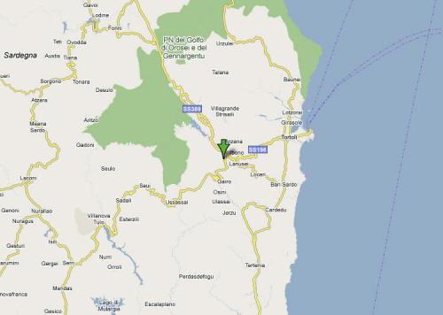 Mappa Provincia Ogliastra
