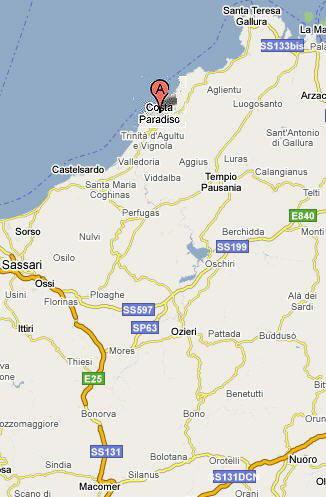 Mappa Costa Paradiso