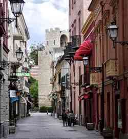 Oristano - Fotografia di una strada nel Centro Storico