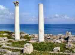 Oristano -Foto alle rovine di Tharros
