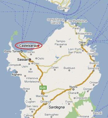 Mappa di Castelsardo