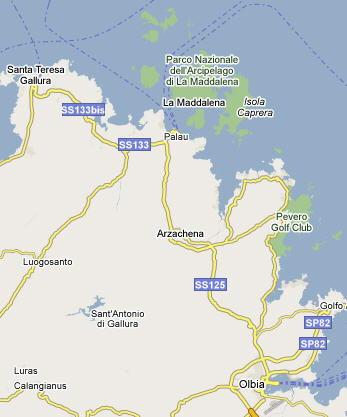Mappa La Maddalena