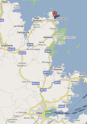 Mappa di Porto Cervo