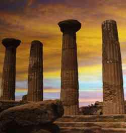 Agrigento - Tramonto sulla Valle dei Templi