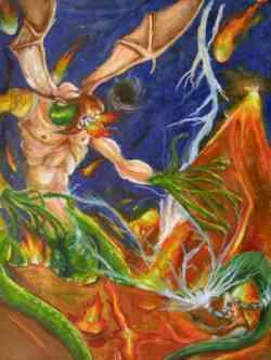 Leggende dell'Etna . Il gigante Tifeo