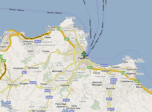 Mappa della Provincia di Palermo
