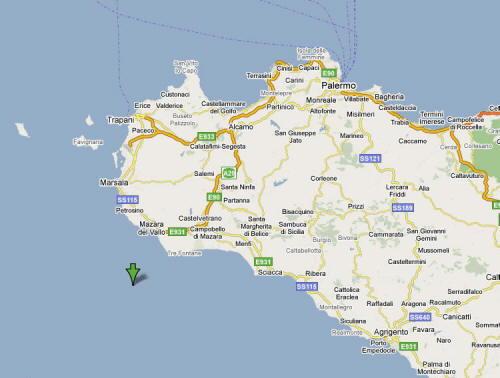 Mappa Provincia di Trapani