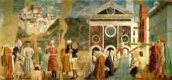 Arezzo - Parte dell'affresco in San Francesco