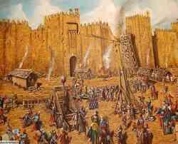 Quadro - Assedio al Castello