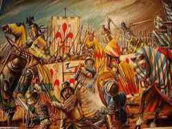 Poppi - quadro della mostra della Battaglia di Campaldino