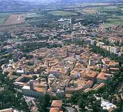 Grosseto - Panorama aereo -il cerchio delle mura