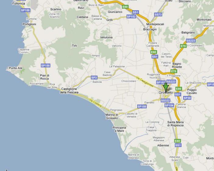 Mappa di Grosseto