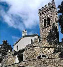 Castagneto Carducci - Foto del Castello  e San Lorenzo