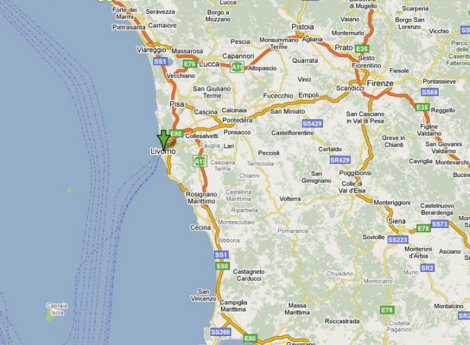 Mappa di Livorno