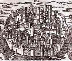 Pisa - Mappa del XII secolo