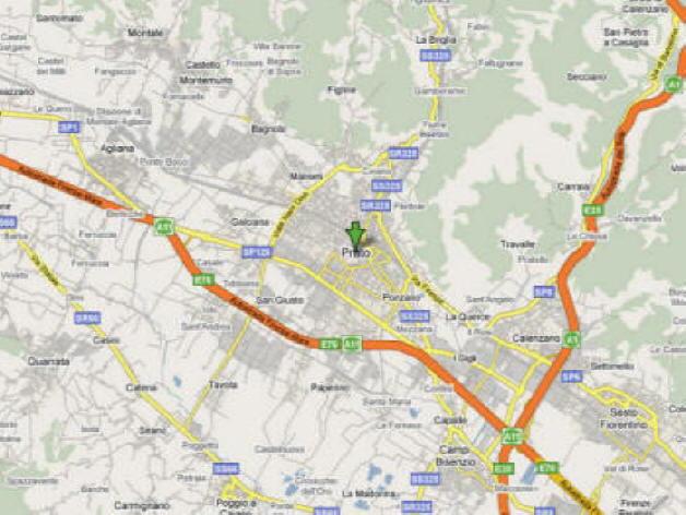 Mappa della Provincia di Prato