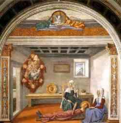 San Gimignano - Annuncio della morte di Santa Fina