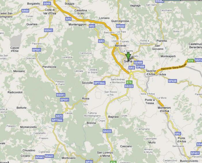 Mappa Provincia di Siena