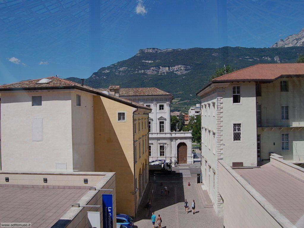 Vista di Rovereto dal Museo Arte Contemporanea di Rovereto e Trento