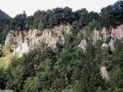 Tirolo Panorama su Fenomeno di erosione