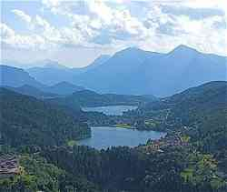 Lago di Piazze e di Serraia visti da Bedollo