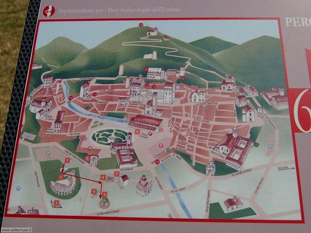 Cartina di gubbio, luoghi da visitare