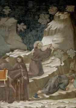 Assisi - foto di un Affresco della Basilica Superiore
